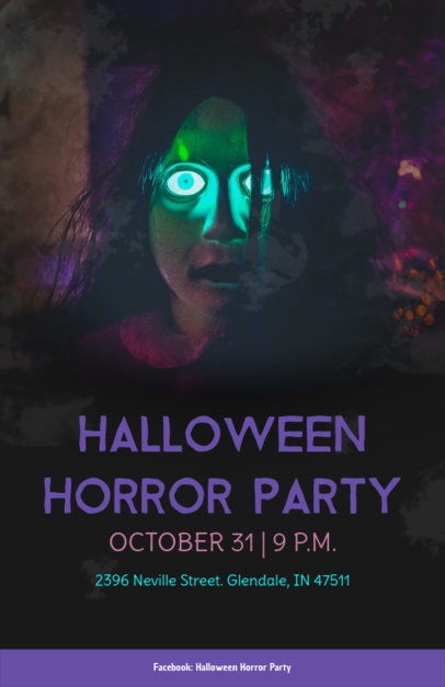 Halloween Party Online Flyer Maker 123a