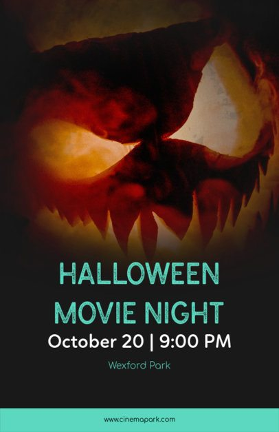 Halloween Movie Night Online Flyer Maker 123e