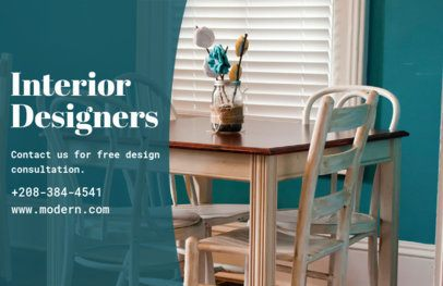 Interior Design Online Flyer Maker with Horizontal Layout 302b