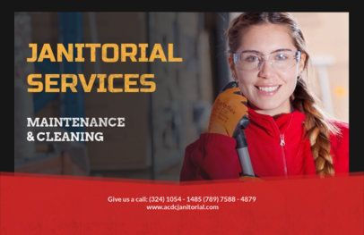 Customizable Flyer Template for Janitorial Service Companies 287b