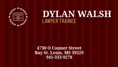 Business Card Maker for Law Firm with Brick Texture 348 d