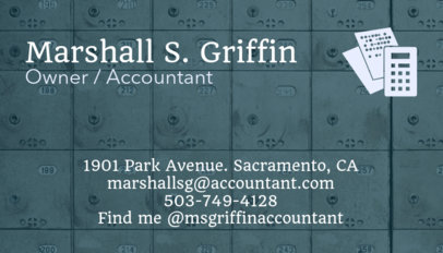 Accounting Business Card Maker 68c