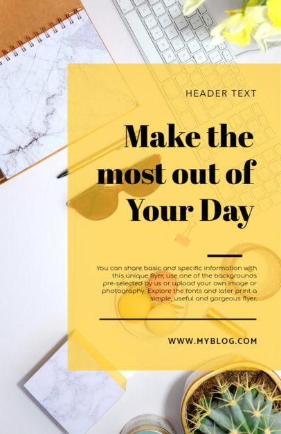 Online Flyer Maker for a Writer with Desk Workspace 281d