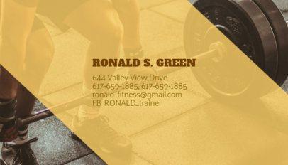 Health & Fitness Business Card Maker 351d