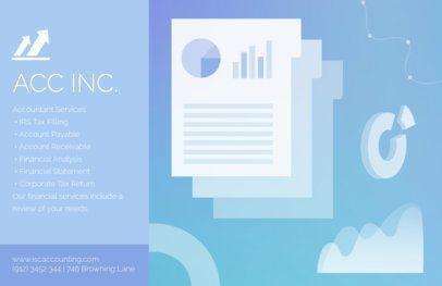 Online Flyer Maker for an Accountant Blue Theme 320e