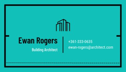 Customizable Business Card Template for Architecture and Design b319