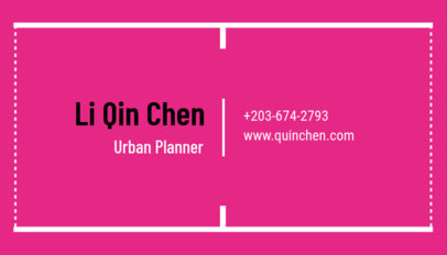 Urban Planner Business Card Template with Minimalist Design c319