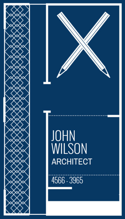 Online Business Card Maker for an Architect Firm - Blue Theme 306a