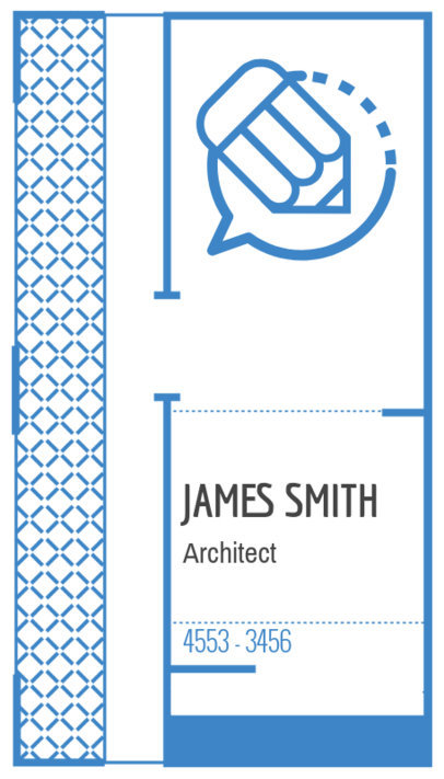 Business Card Template for an Architect Firm with Blue Graphics 306d