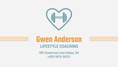 Lifestyle Coaching and Fitness Business Card Maker 334d