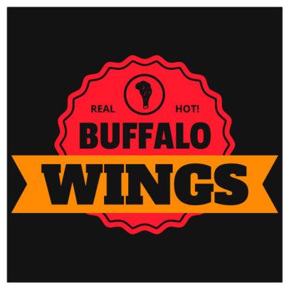 Restaurant Logo Maker for a Wings Restaurant 1228