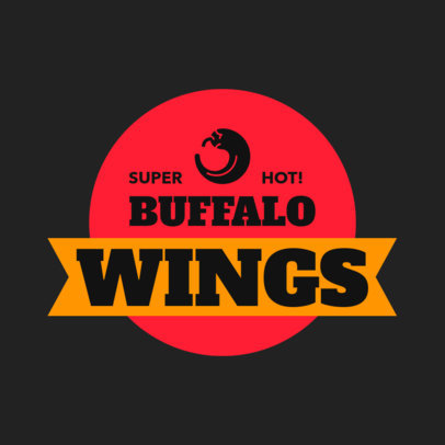 Restaurant Logo Maker for a Wings Restaurant 1228