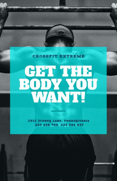 Online Flyer Maker for a Crossfit Gym 352c