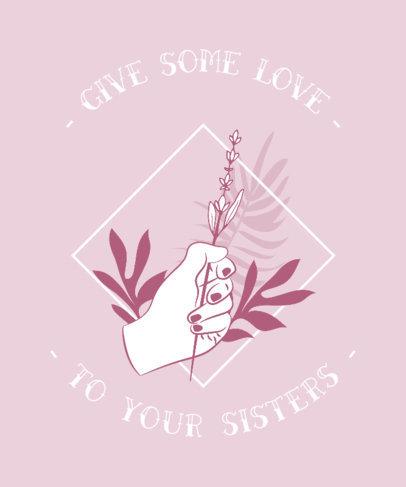 Feminist Shirt Design Maker Pink Theme 328c