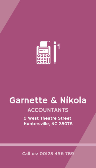 Business Card Template for Accounting Firm 332b