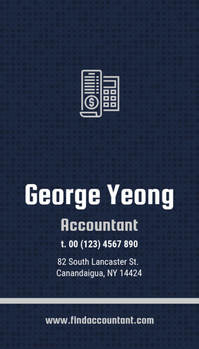 Business Card Maker for an Accountant with Money Icons  332e