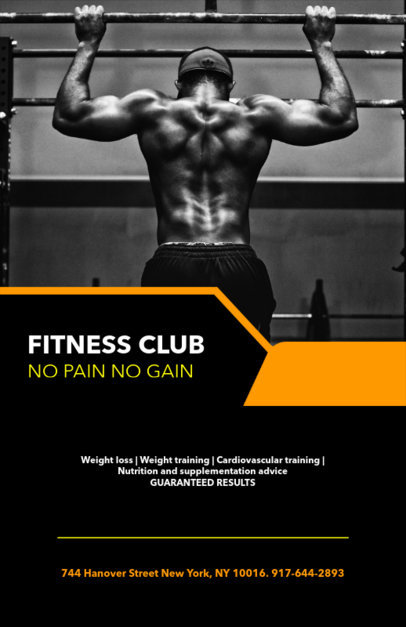 Flyer Template for Gyms with Fitness Images 131b