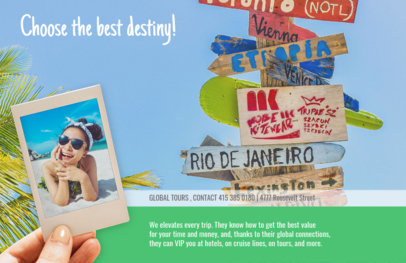 Online Flyer Maker for a Travel Agency with Beach Theme 337b