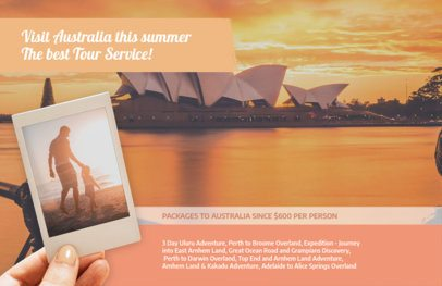 Flyer Template for a Travel Agent Orange Theme 337e