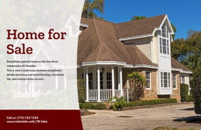 Home for Sale Flyer Template with Realistic Photos 345a
