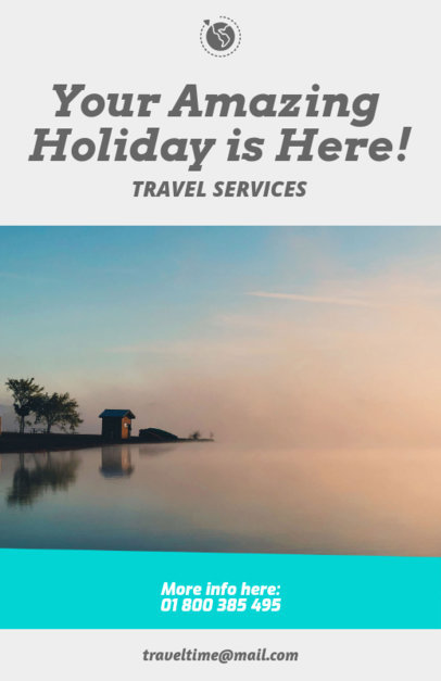 Travel Agency Flyer Maker for Travel Services 307d