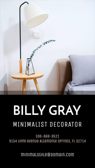 Business Card Maker for Minimalist Decoration Studios 327d