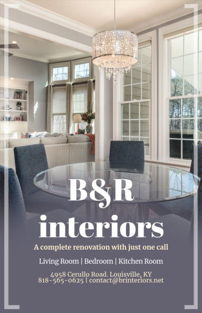 Flyer Maker for Home Design Interior with Home Images 317a