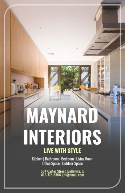 Flyer Maker App for Interior Stylist with Home Images 317d
