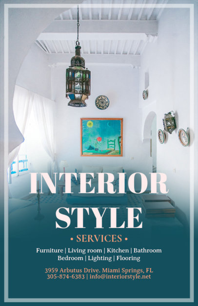 Flyer Maker for Interior Designers with Decor Images 317e