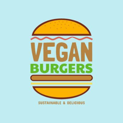 Online Logo Maker for a Vegan Burger Restaurant 1233b