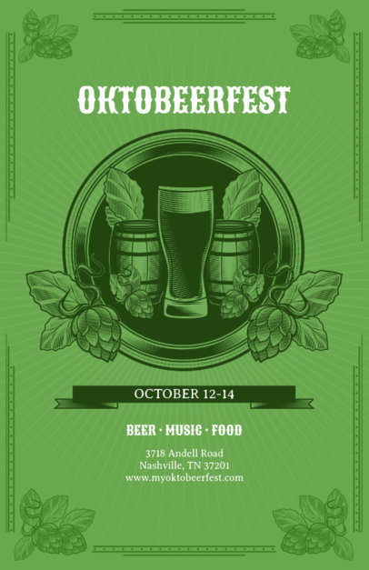 Online Flyer Maker for Oktoberfest 135b