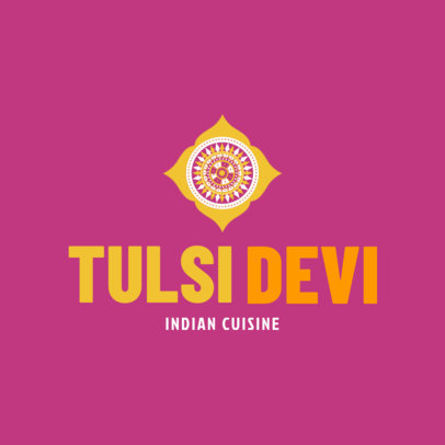 Indian Cuisine Logo Maker 1221a