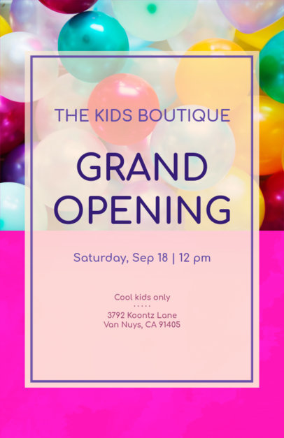 Online Flyer Maker for Kids Store 161d