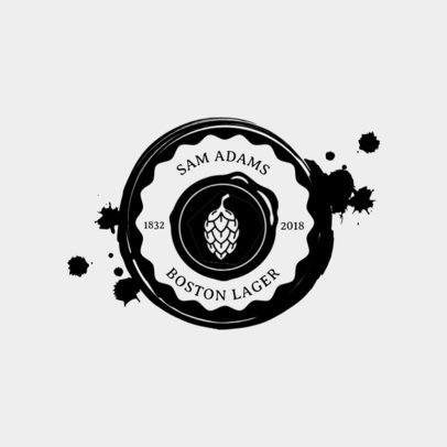 Logo Maker for Craft Beer Brands with Circle Badge 1205a