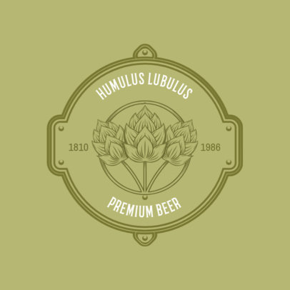 Badge Logo Maker for a Craft Brewery 1205d