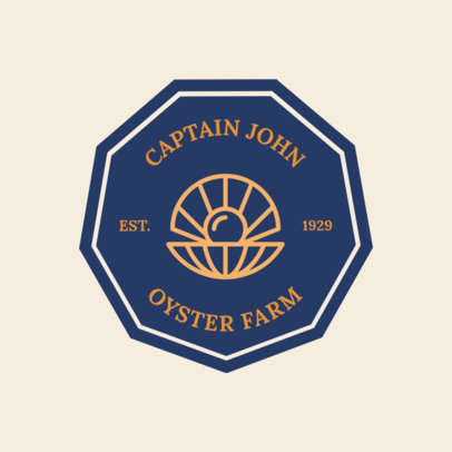 Logo Maker Oyster Farm 1225d