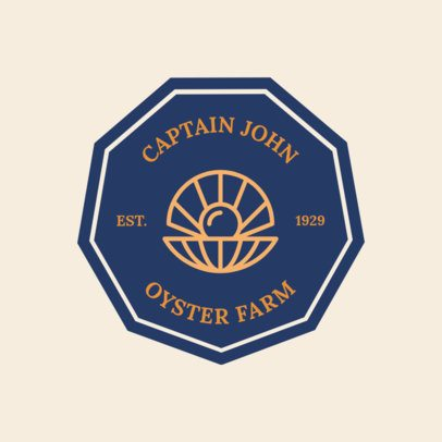 Logo Maker Oyster Farm 1225d