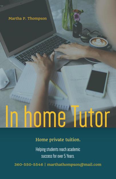 Online Flyer Maker for In-Home Tutor 142b