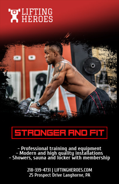 Gym Online Flyer Maker 339d