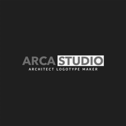 Architect Studio Logo Template 1263