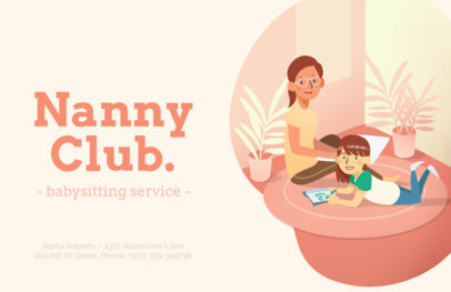 Online Flyer Maker for Nanny Services 379e
