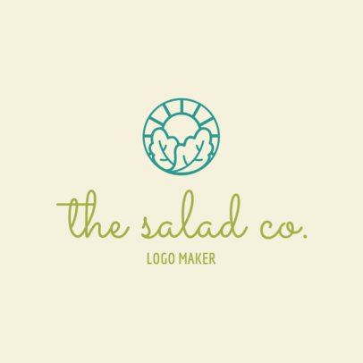 Salad Restaurant Logo Maker 1267