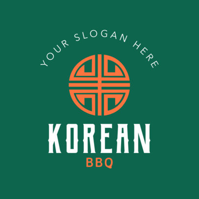 Online Logo Maker for a Korean BBQ 1222b
