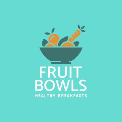 Healthy Restaurant Logo Maker 1236d