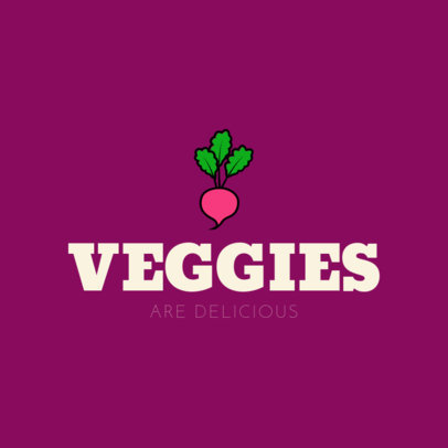 Vegan Food Restaurant Logo Maker 1236e