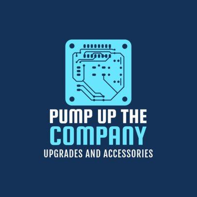 Custom Logo Maker for Computer Shops 1252f