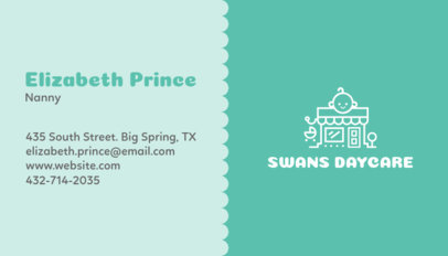 Business Card Maker for Nanny Services with Baby Icons 355a