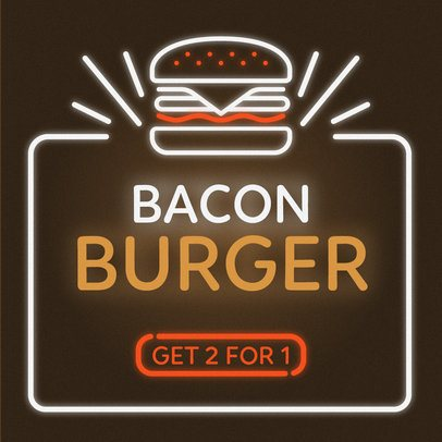 Online Banner Maker for a Burger Restaurant 311