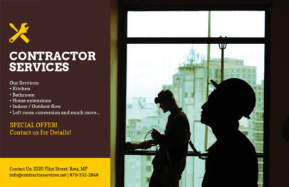 Flyer Template for Contractor Services 356b