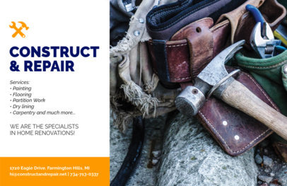 Online Flyer Maker for a Contractor Business 356c